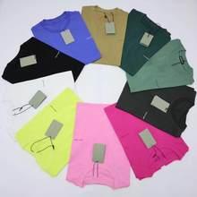 Primavera-camiseta de manga corta para hombre, ropa femenina bordada, primavera, verano, 23, 2020