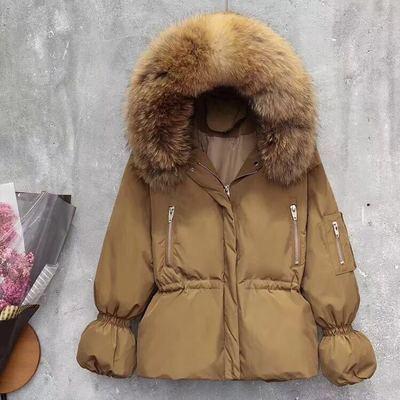 Down 2020 Jacket Woman Hooded Winter Coat Large Fur Collar Korean Puffy Jacket Warm Parka Chamarras De Mujer KJ2692