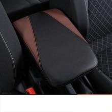 Lsrtw2017 Fiber Leather Car Central Control Armrest Cover for Skoda Karoq Interior Mouldings Accessories
