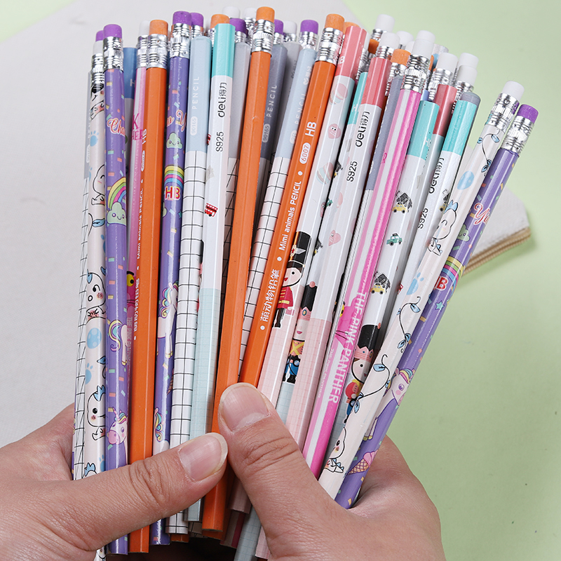 40Pcs/Pack Cute Cartoon HB/2B HB Standard Wooden Pencil Kawaii Student Stationery Writing Drawing Pencils School Office Supply