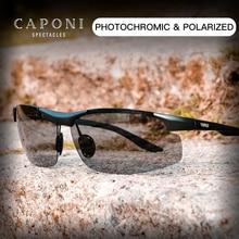 CAPONI ספורט משקפי שמש לגברים להגן על עיני מקוטב גווני דיג Photochromic Ultralight נהג של שמש משקפיים BS8033