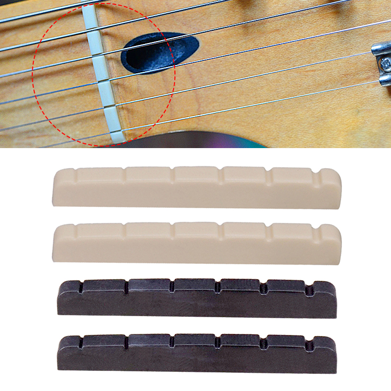 2pcs 6 String Electric Guitar Nut Saddle For ST TL Style Guitar Replacement Accessories