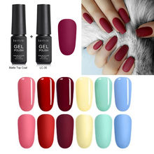 LILYCUTE 2 Stuks Matte UV Gel Nagellak Matte Top Jas Kleur UV Gel Nail Art Varnish Hybrid Losweken gel Lak Manicur Gel(China)