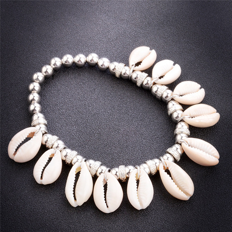 Vintage Bohemia Woven Bead Shell Ankle Bracelets For Women Sindlan Anklet Boho Beach Accessories Foot Jewelry