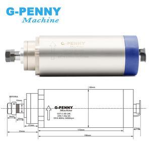Image 2 - 1.5kw ER16 air cooled spindle motor 4 bearings air cooling 1.5 kw CNC milling spindle & 220v 1.5kw inverter VFD & 80mm bracket