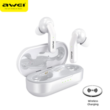 AWEI אמיתי אלחוטי סטריאו אוזניות מגע בקרת Bluetooth 5.0 סופר בס HiFi דיבורית עמיד למים אוזניות עם מיקרופון כפול