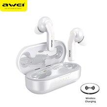 AWEI True bezprzewodowe słuchawki Stereo sterowanie dotykowe Bluetooth 5.0 Super bas HiFi zestaw głośnomówiący wodoodporne słuchawki z podwójny mikrofon