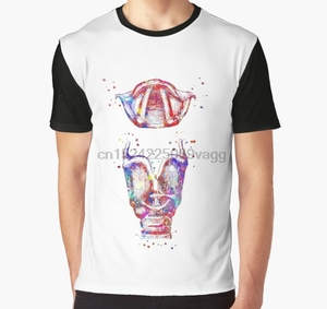 All Over Print 3D Men Funny tshirt Women t shirt Larynx larynx and vocal cord watercolor larynx mouth anatomy Graphic T-Shirt(China)
