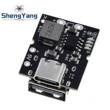 Convertisseur élévateur USB type C, 5 V, 2 A, affichage LED, module d'alimentation intensif batterie au lithium, panneau de protection de charge, pour chargeur à monter soi-même