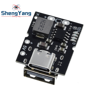 Type-C USB 5V 2A Boost Converter Step-Up Power Module Lithium Battery Charging Protection Board LED Display USB For DIY Charger