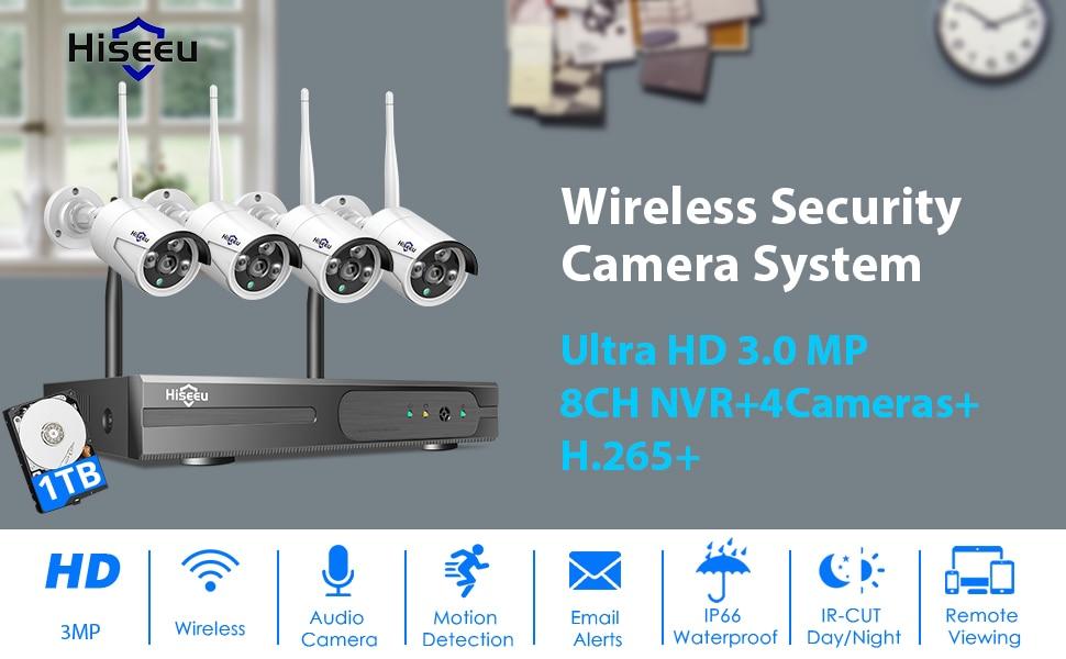 Hiseeu Wireless CCTV System 3MP