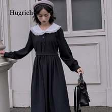 Платье женское Длинное Элегантное в стиле преппи с длинным рукавом