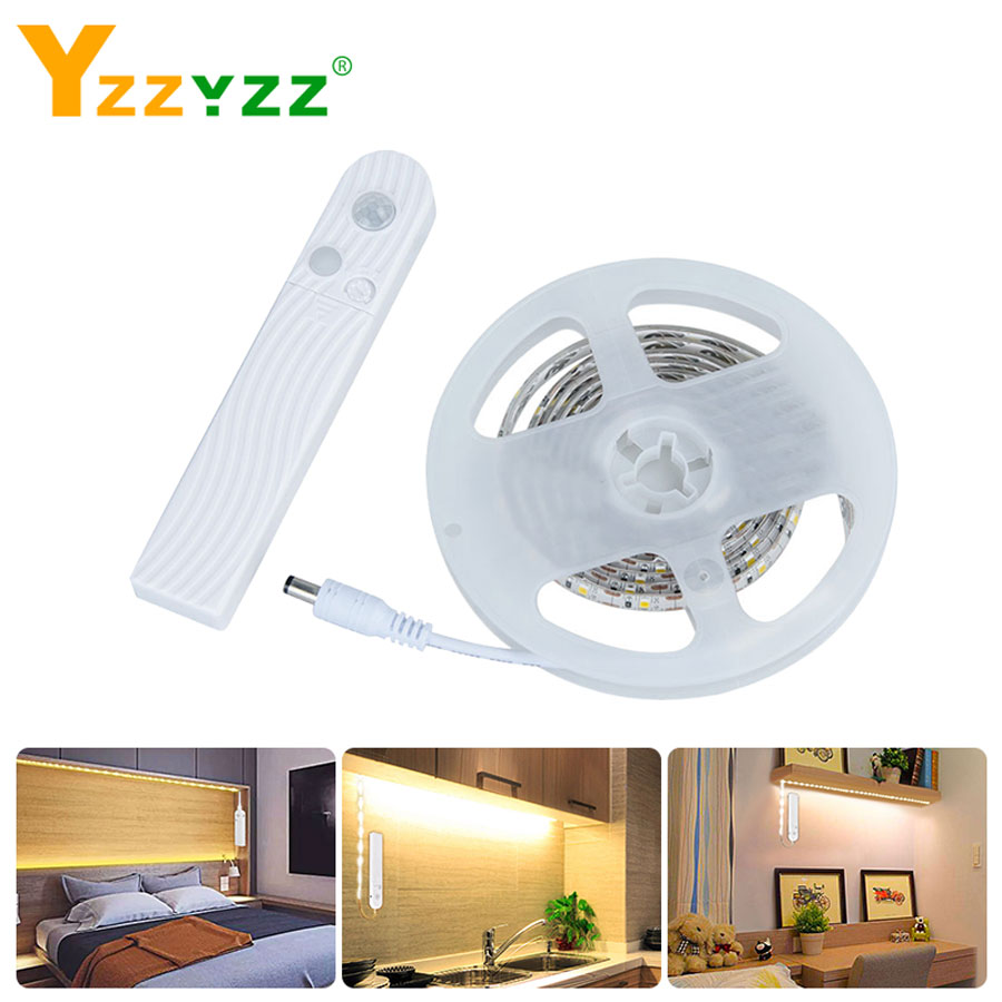 5V 2835 PIR Motion Sensor Led Strip 1M 2M 3M Flexible Lamp Illumination RGB LED Strips For Bedroom Stairs Living Study Home Deco