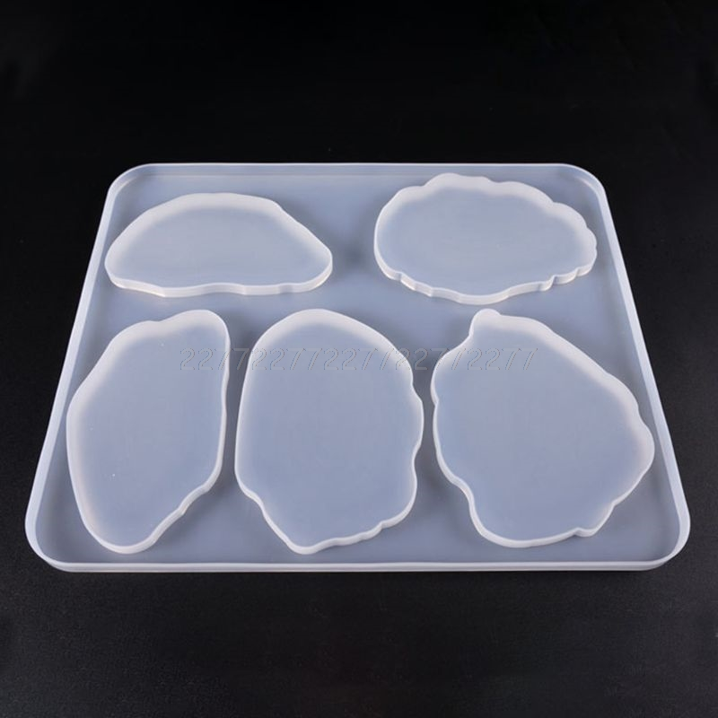 Large Table Decoration Mold Coaster Set Multi-standard Cup Mat Silicone Molds DIY Crystal Epoxy UV Glue Mold S18 19 Dropship