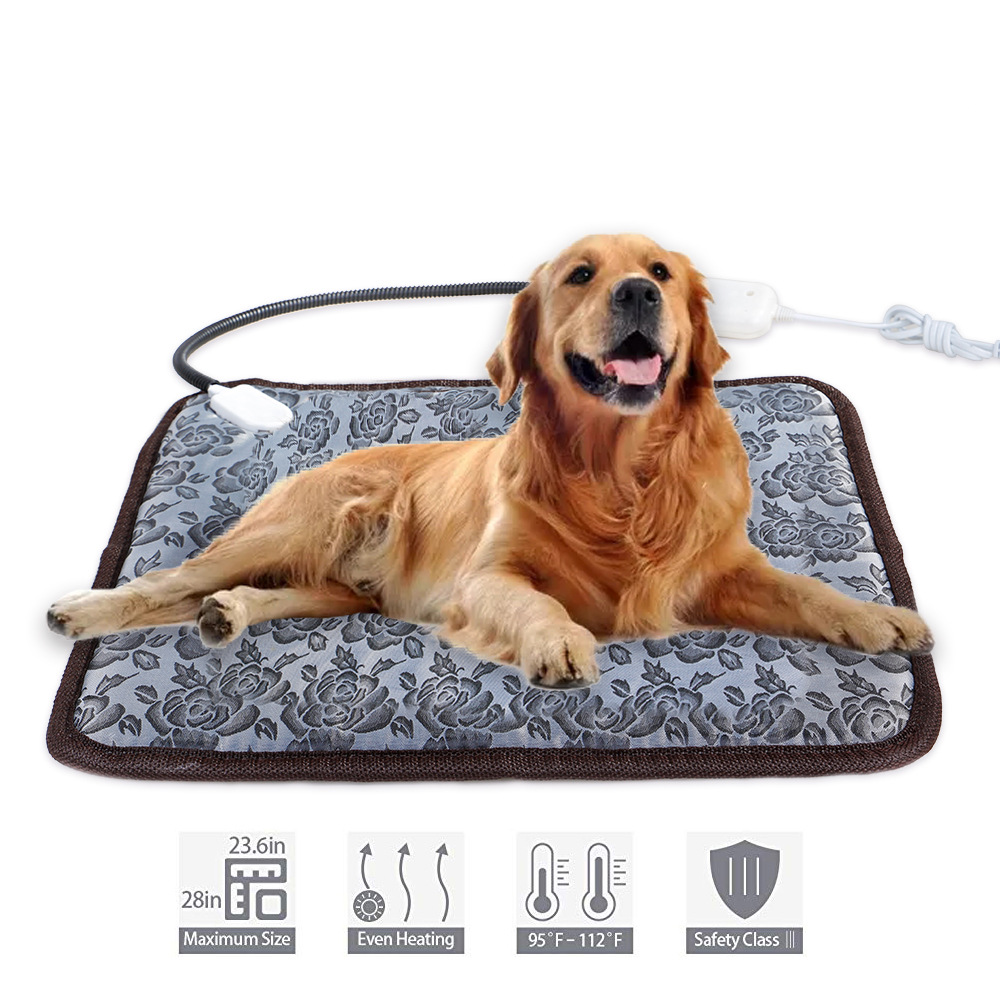 Pets Electric Bed Mat Soft Warm Fleece Paw Print Pet Puppy Dog Cat Blanket Bed Mat Sofa Pet Warm Product Cushion Cover Towel 5