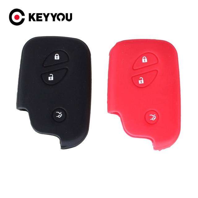 KEYYOU silikonowa obudowa na kluczyk samochodowy klucz skrzynki pokrywa dla Lexus CT200h ES 300h IS250 GX400 RX270 RX450h RX350 LX570 klucz nakładka na klucz