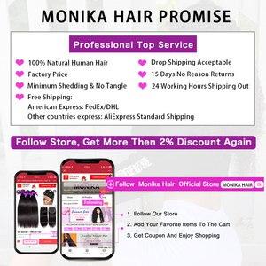 Image 5 - Monika Hair Frontals Peruvian Straight Frontal Human Hair Lace Frontal Closure 13x4 Ear To Ear Lace Closure Frontal Non RemyHair