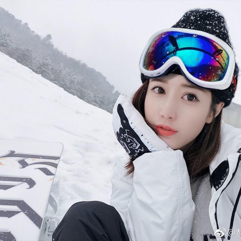 Adult Snowboard Ski Goggles Anti Fog UV400 Skiing Snowmobile Sunglasses Plated Motocross Off Road Glasses Helmet Mask Men Women
