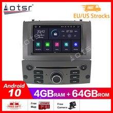 Android 10.0 4 + 64GB araç DVD oynatıcı oynatıcı GPS navigasyon Peugeot 407 2004-2010 için radyo multimedya Satnav ana ünite stereo teyp kaydedici