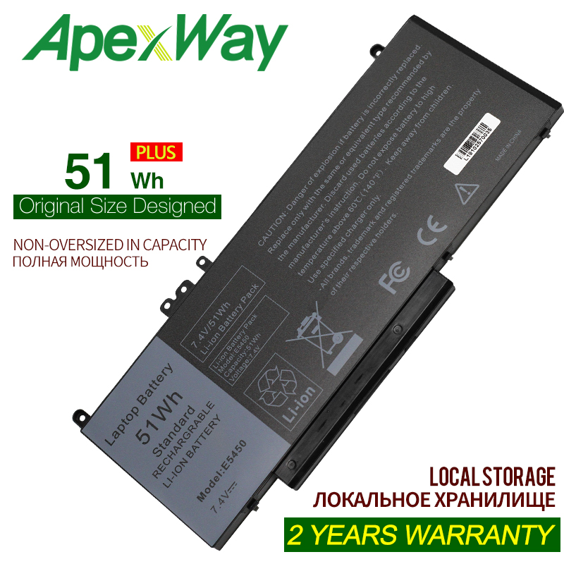 ApexWay 7.4V 51WH G5M10 Laptop Battery For DELL Latitude 14 5000 Series  ( E5450)  E5550 E5570 6MT4T OR9XM9 8V5GX O8V5GX 7V69Y