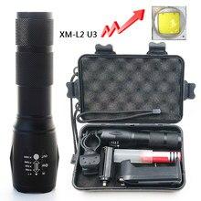 Litwod-linterna led Z25A100 Cree XM-L2 U3, lámpara de antorcha de 6000LM, de aluminio, resistente al agua, con zoom, Luz Portátil para acampar y cazar
