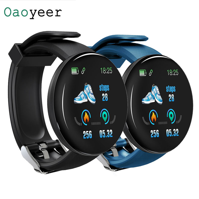 D18 Smart Watch Men Women Blood Pressure Round Smartwatch Waterproof Sport Smart Watch Fitness Tracker For Android Ios Z2