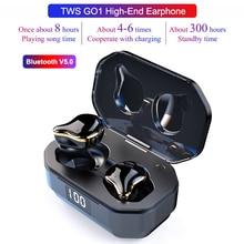 TWS G01 Bluetooth 5.0 Earphones Binaural Touch Control Wireless Earbuds Stereo Heavy Bass Headphones Waterproof Sports Headset