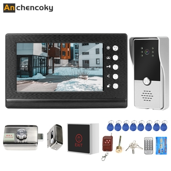 Anchencoky Wired Video Intercom with Lock  Electric for Apartment Home Access Control Door Phone System - discount item  54% OFF Intercom