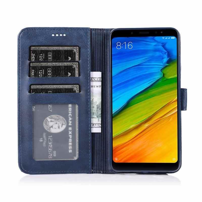 Copertura di Caso Per Xiaomi Redmi 5 Caso di Cuoio di Lusso di Vibrazione Magnetica Fonda Per La Nota Redmi 5 Pro 5.99 ''Globale versione Della Copertura Del Raccoglitore