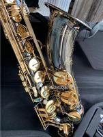 Custom Tenor Saxophone Instrument New B Flat Tenor Sax Wind / Tube Black Nickel Gold Key Saxophone