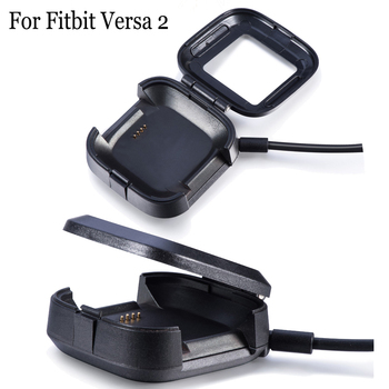 smart watch charger cable 1m usb charging cable cord fast charger line for polar m430 running watch accessories 1m USB Fast Charging Cable Box for Fitbit Versa2 Smart Watch Portable Charging Charger Protective Case for Fitbit Versa 2