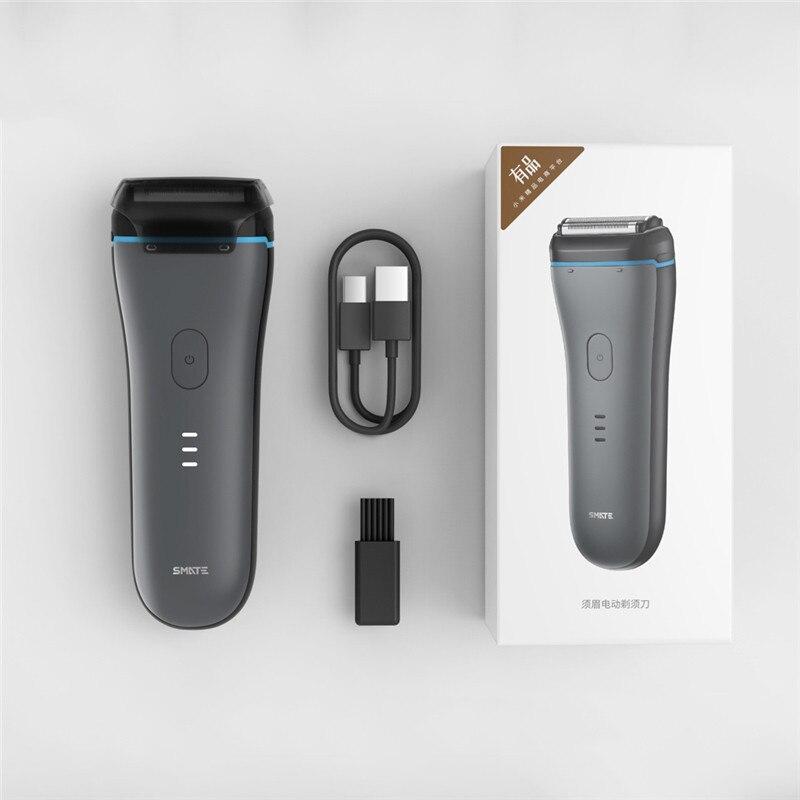 SMATE hommes rasoir alternatif lavable Rechargeable sec humide utilisation rapide propre contrôle intelligent rasage barbe Machine