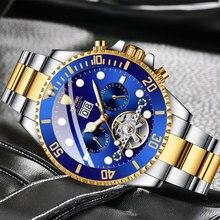 TEVISE Top Luxury Brand Men Stainless Steel Skeleton Watch Men Waterproof Automatic Mechanical Wristwatch Relogio Masculino