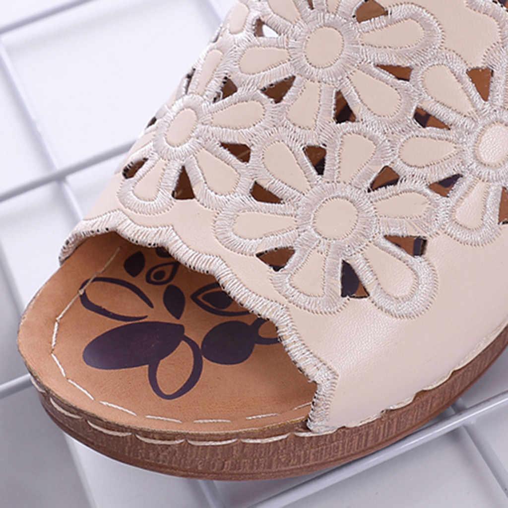 Marke hausschuhe frauen Plattform Sandalen Casual Outdoor Weiche Sandalen Sommer Schuhe frau damen Strand hausschuhe frauen
