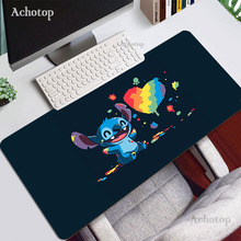 Kawaii Extra Large Gaming Mouse Pad Stitch For Computer Gamer Keyboard Carpet Mouse Mat Non-Slip Rubber Table Rug Desk Mat Pad