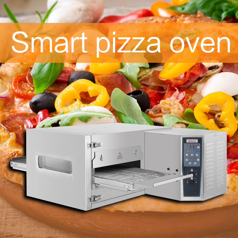 Tracked Multifunction Pizza Oven Electric Wind Cycle Intelligent Timing Pizza Oven Commercial Stainless Steel High Capacity Oven