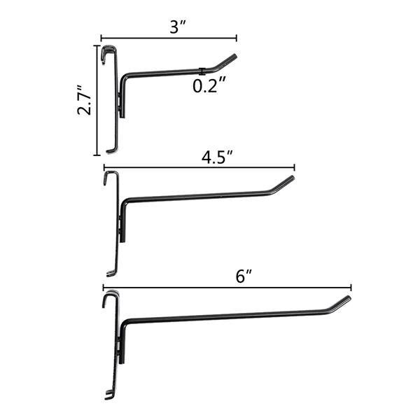 2pcs 5mm Grid Rack Wall Storage Shelf Iron Mesh Frame Multi function Wall Mounted Mesh Panel Wall Art Display Organizer - 5