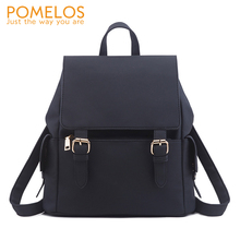 POMELOS 2019 New Arrival Backpack Women Shoulder Function Bag Female Material PU Leather Travel Woman Bagpack