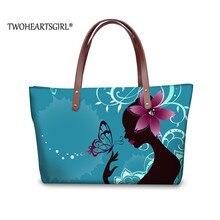 Женская сумка с принтом twoheart sgirl, неопреновая сумка на плечо с красивыми бабочками, вместительная сумка на плечо