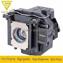 Replacement ELPL57 V13H010L57 Projector Lamp with Cage For Epson EB-440W EB-450W EB-450Wi EB-455Wi EB-460 with 180 days warranty цены