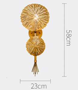 Luxury Golden Flower Led Wall Light Hotel Room Dinner Wall Sconce Creative Designer Living Dining Wall Lamp Free Shipping