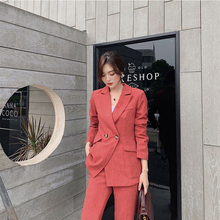 Women Blazer and Pant Two Piece Office Suits Sets Leisure Si