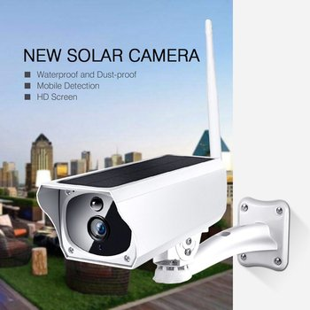 WIFI Wireless Solar Powered Surveillance IP Camera 1080P Waterproof Night Vesion Intercom Indoor Outdoor Security Camera