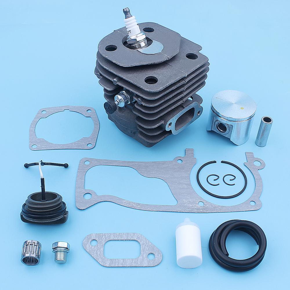 47mm Cylinder Piston Gaskets Kit For Husqvarna 357 359 357XP Chainsaw Gas Line Filter Plug Needle Bearing 537 15 73 02