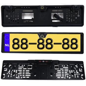 EU European License Plate Frame Car Rear View Camera Waterproof Night Vision Reverse Backup Camera NO LED light only Camera