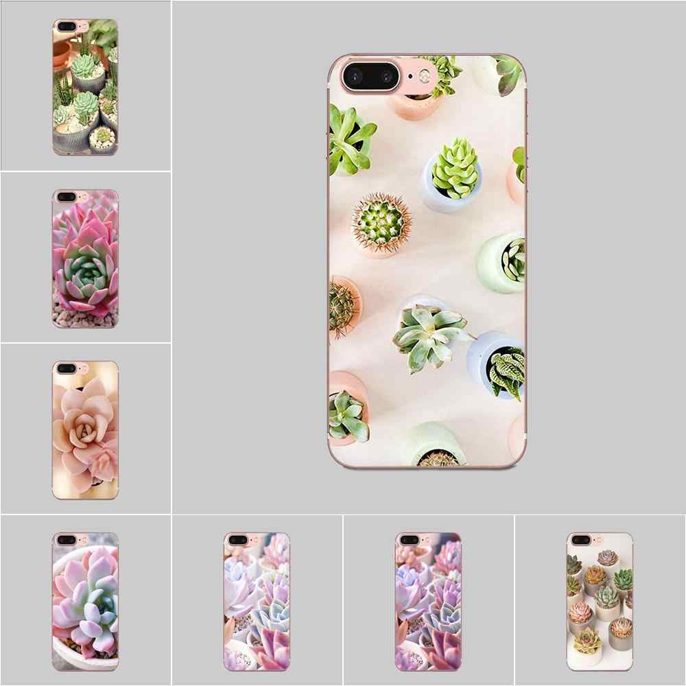 Plant Leuke Succulent Tpu Covers Cases Voor Samsung Galaxy Note 8 9 10 Pro S4 S5 S6 S7 S8 S9 s10 S11 S11E S20 Rand Plus Ultra