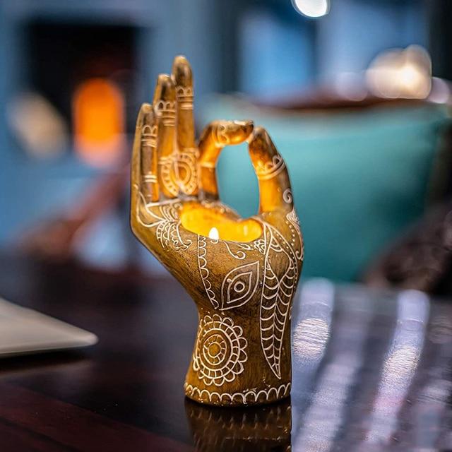 Bergamot Candle Holder Retro Bronze/gold Desktop Decor Candlestick Aromatherapy Candle Holders For Meditation Yoga Art Ornaments 2