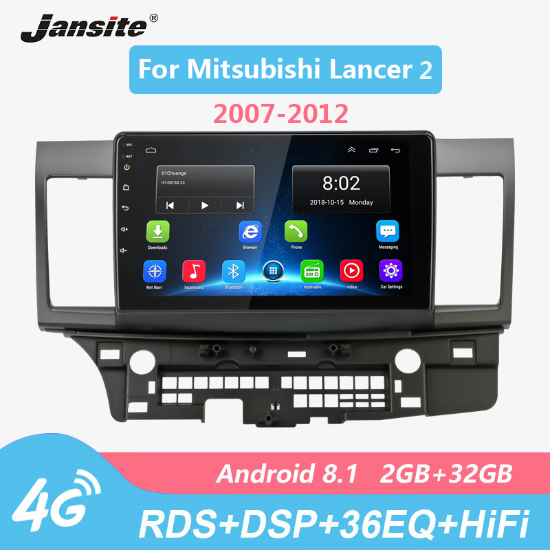 Jansite Wifi 10 Car Radio player For Mitsubishi Lancer 2 2007-2012 Android 8.1 Touch screen multimedia video players with Frame image