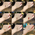Korean Fashion Titanium Steel Necklaces For Women Vintage Neck Chain Pendant Necklace Free Shipping Jewelry Wholesale 2021