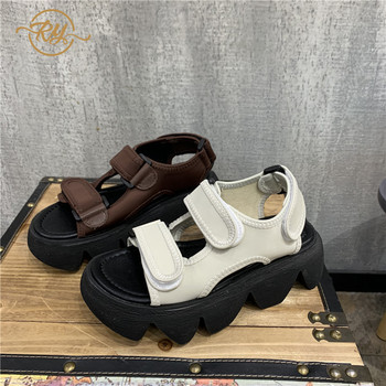 RY-RELAA womens shoes high heel sandals 2020 fashion sandals women sandalias de mujer verano ins wedges shoes for women shoes